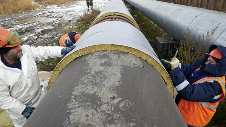 Красноярские энергетики используют новый материал для изоляции теплосетей