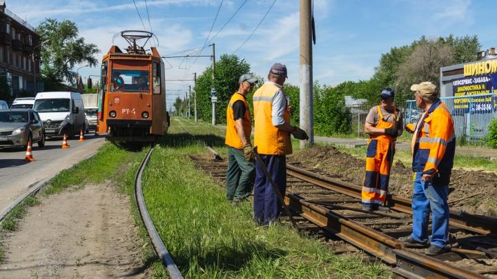 В ближайшие пять лет в Омске отремонтируют трамвайные пути на двух улицах