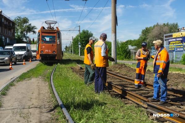 В прошлом году на Богдана Хмельницкого отремонтировали 100 метров путей