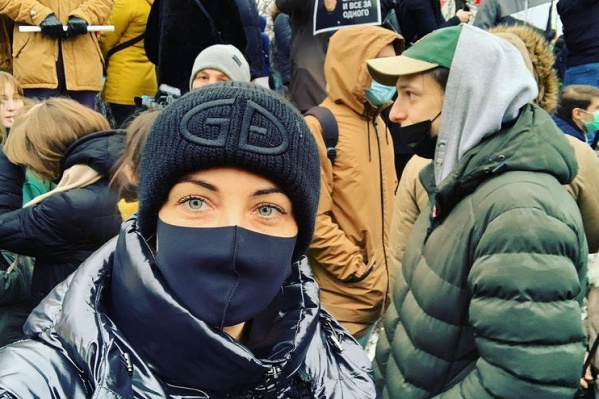 Ранее Юлия публиковала фото с акции в поддержку ее мужа