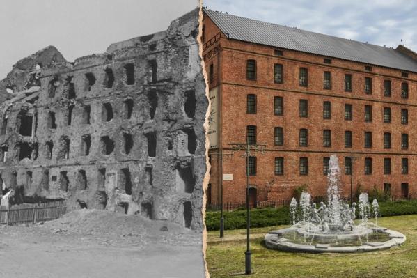 Фотограф нарисовал мельницу в центре города с коваными фонарями и работающим фонтаном