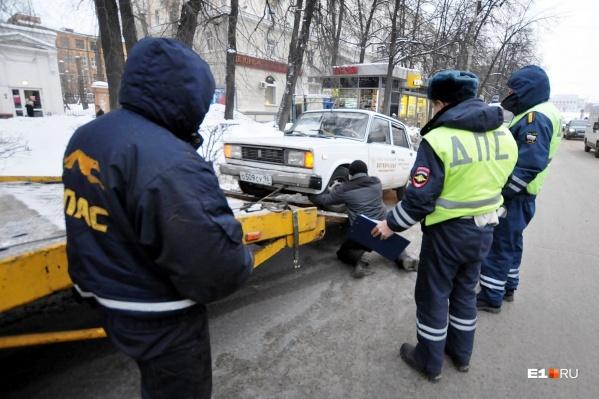Машины будут эвакуировать 29 и 30 января