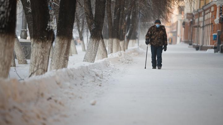 Тишина в городе: атмосферные фото из пустого постновогоднего Кемерово