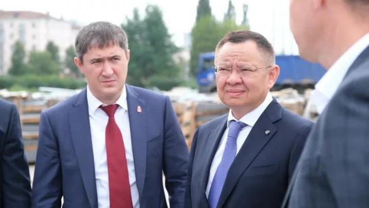 Министр строительства Ирек Файзуллин оценил реконструкцию эспланады и набережной в Перми