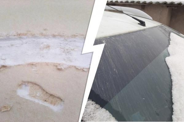 Жители Самарской области были удивлены утреннему снегу