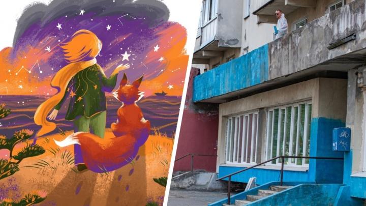 В Северодвинске появятся 6 новых объектов стрит-арта от «Сборной Тайболы»: смотрим эскизы