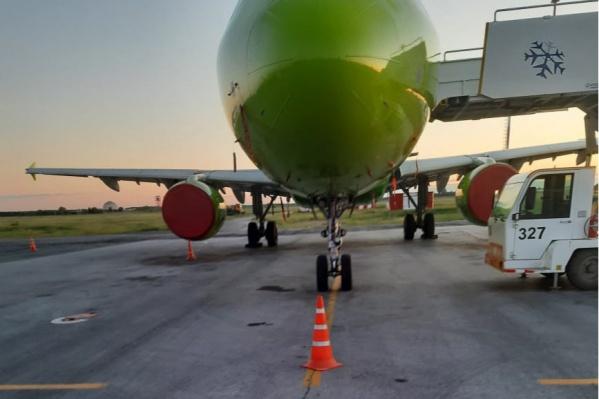 Пилот аэробуса перепутал разметку в новосибирском аэропорту