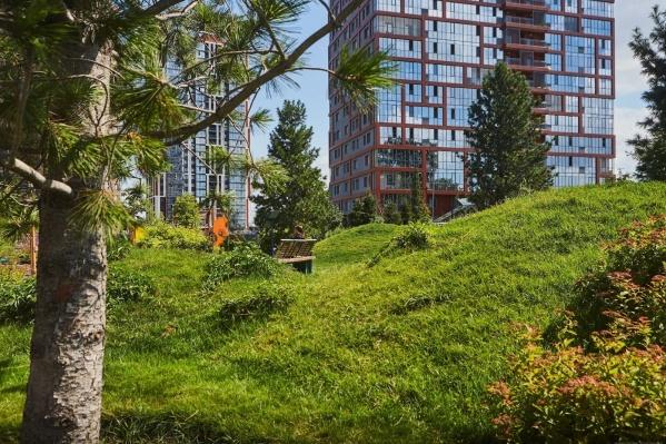 Город-парк расположен рядом с центральными улицами города