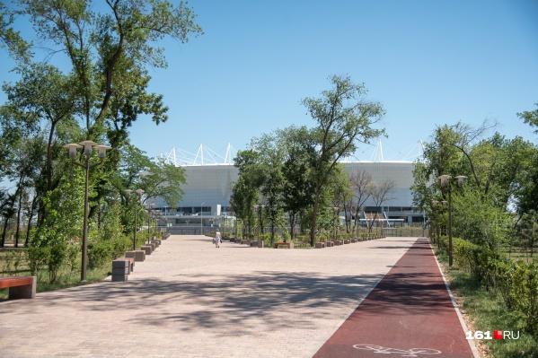 Левобережный парк появился вместе с «Ростов Ареной»