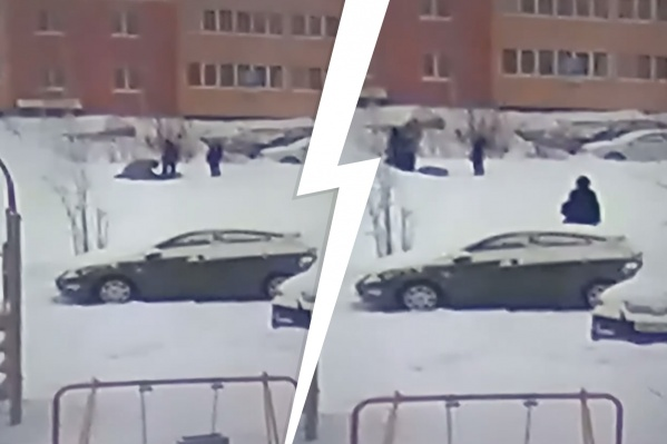 Очевидцы сняли инцидент на видео