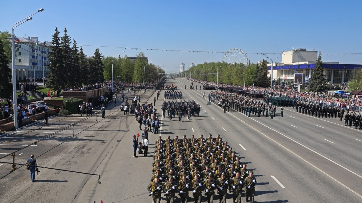Показываем наглядно, как объехать парад 9Мая на проспекте Октября в Уфе (схема движения)