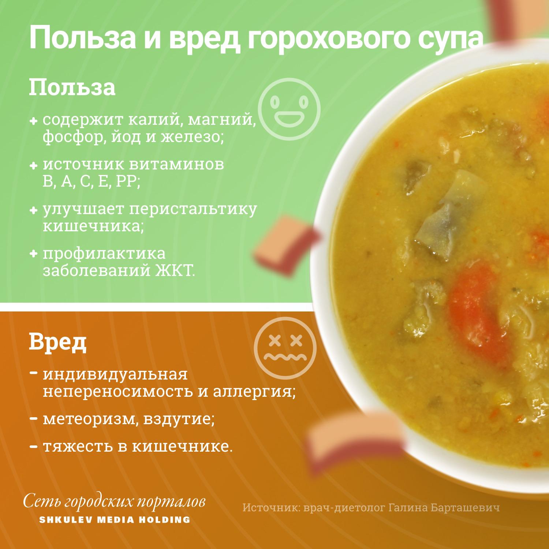 Вот что полезного и вредного в гороховом супе