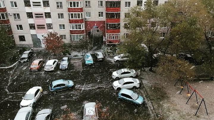 Пока вы спали: Тюмень с утра накрыл снегопад — подборка из соцсетей