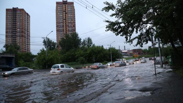 В первый день рабочей недели Красноярску снова обещают дожди