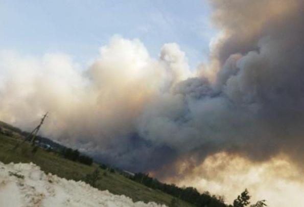 В Челябинской области крупный лесной пожар подобрался к поселкам