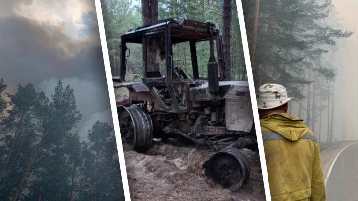 Тракториста, который получил сильные ожоги в горящем лесу под Тюменью, перевели из реанимации в палату