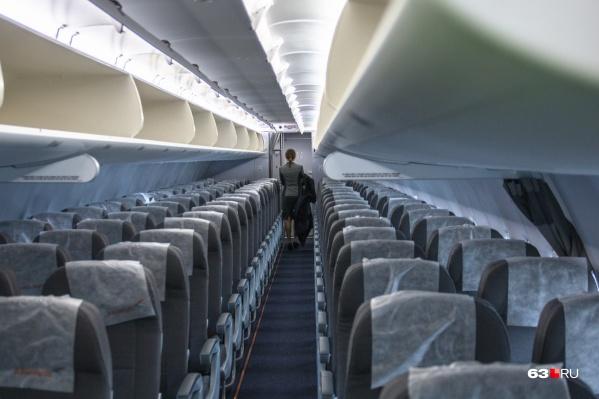 Пассажиров вывели из салона на время осмотра
