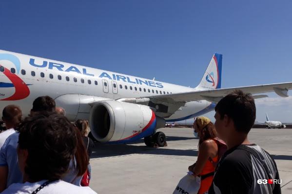 Самолеты «Уральских авиалиний» будут обслуживать рейс еженедельно