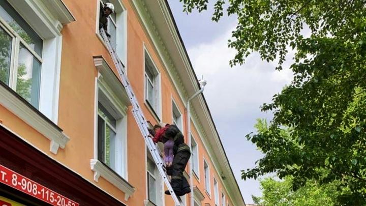 На Серова пожарные спасли 6-летнюю девочку, которая стояла в окне третьего этажа
