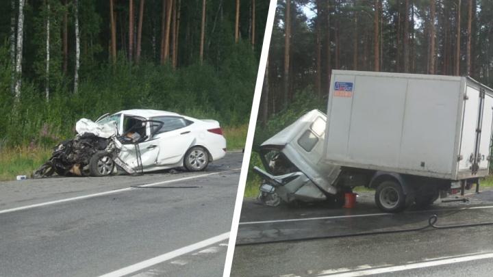 На ЕКАД из-за серьезной аварии образовалась огромная пробка