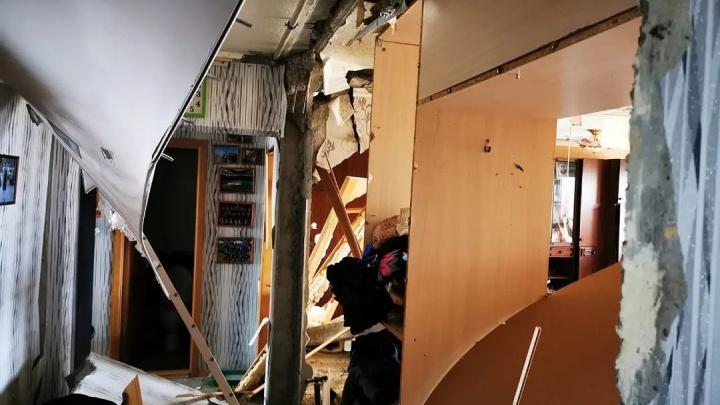 Взрыв газа в доме на улице Гайдара: видео с квадрокоптера
