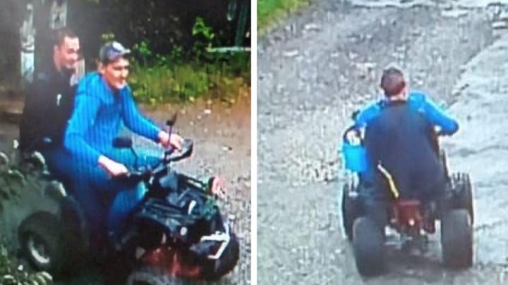 В Екатеринбурге поймали воров-неудачников, катавшихся на краденом квадроцикле под камерой наблюдения