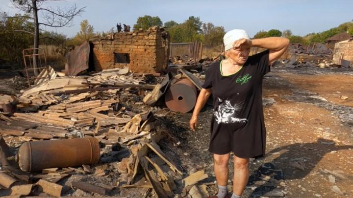 Остались одни дымоходы: жительница села Гвардейцы показала, что стало с ее домом