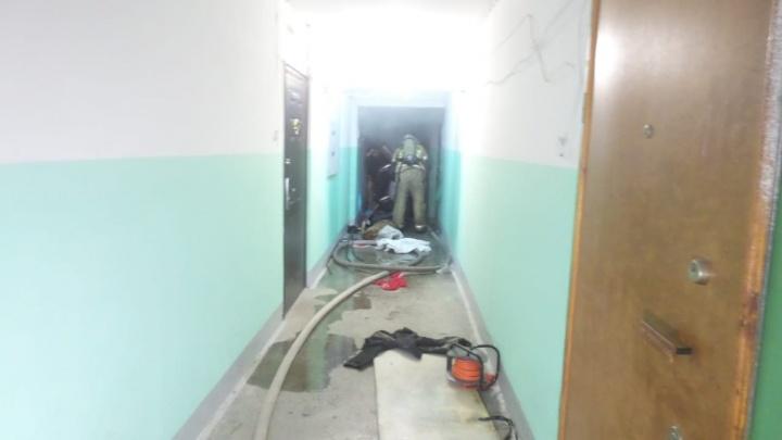 На Юго-Западе ночью загорелась квартира «Плюшкина»: из нее вынесли мужчину, но он умер на носилках скорой