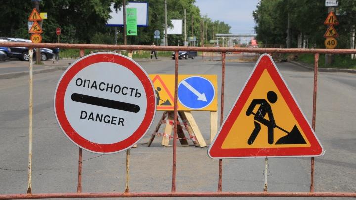 В Архангельске на несколько дней продлили перекрытие Обводного канала