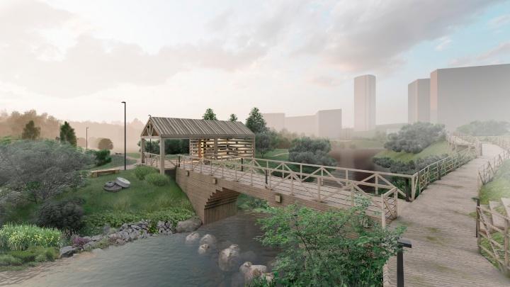Новосибирцам показали проект нового парка с красивыми речными излучинами и экстрим-зоной на 5-этажной горе мусора