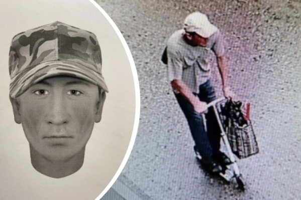 Это фоторобот возможного свидетеля, а также стоп-кадр с видеозаписи камеры наружного наблюдения с изображением разыскиваемого мужчины