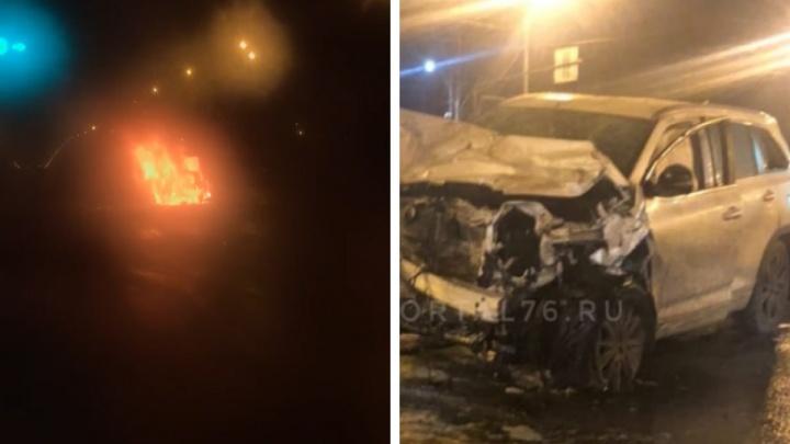 Гнал на скорости 146 километров в час: два человека сгорели в машине, когда в них врезался пьяный лихач