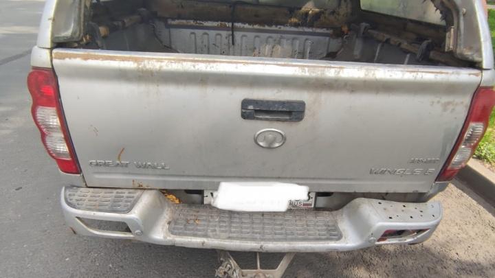 В самарской полиции выяснили, зачем владелица иномарки волокла привязанного к бамперу пса по дороге