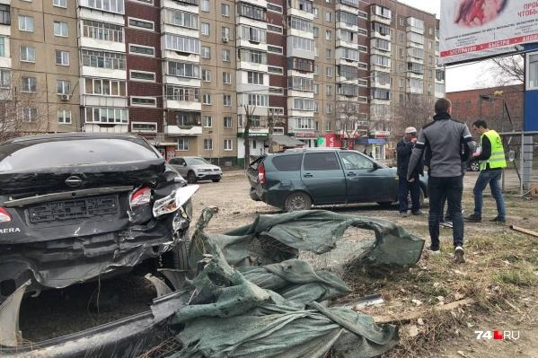 В аварии пострадали пять автомобилей