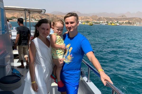 Семья Екатерины отдыхала в Египте с 4 по 20 сентября
