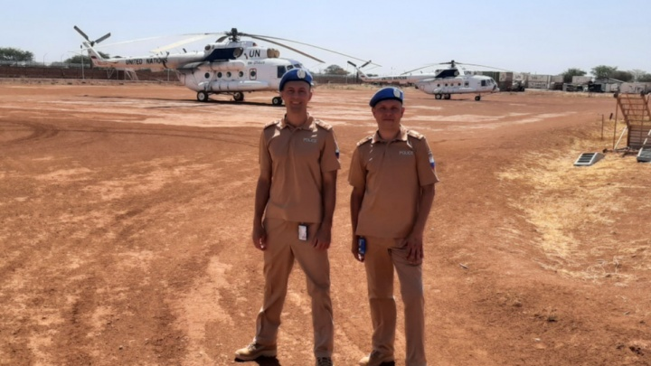 Пермский полицейский прилетел наслужбу вАфрику