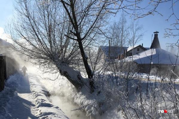 В Ростове до сих пор парят теплосети