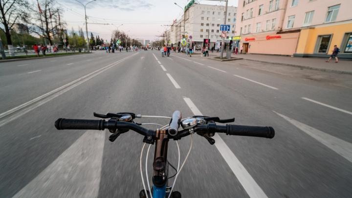 В Перми появился первый светофор для велосипедистов