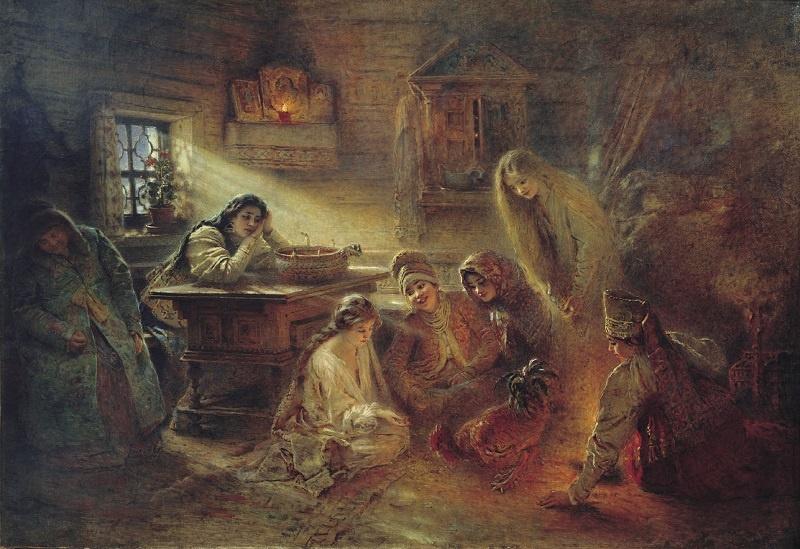 Маковский К. Е. «Святочные гадания». 1900-е.