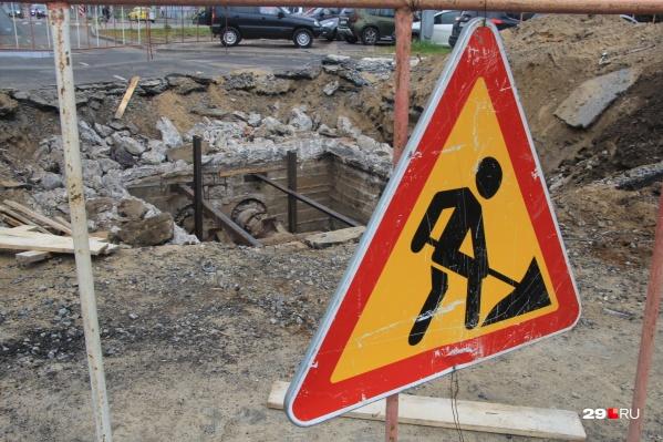 Работы на улице Гагарина идут полным ходом, но требуют, как оказалось, большего времени