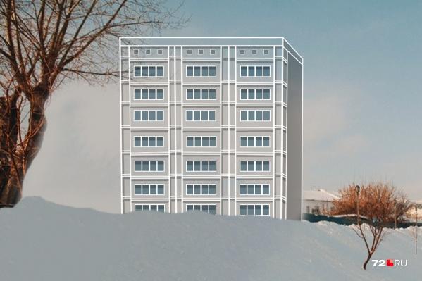 """Мы представили, как может выглядеть апарт-отель на набережной. Известно, что он будет <nobr class=""""_"""">54 метр</nobr>а в длину, <nobr class=""""_"""">33 —</nobr> в ширину, а максимальная высота надземной части здания составит <nobr class=""""_"""">43,6 метра</nobr><br><br>"""