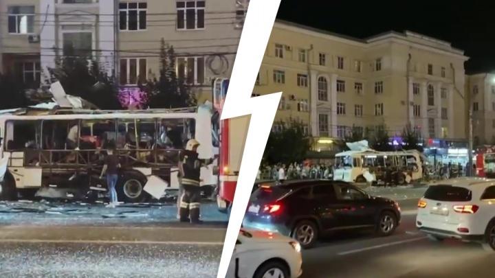 В Воронеже взорвался автобус, полный пассажиров