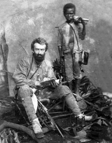 Миклухо-Маклай с папуасом Ахматом. Малакка, 1874 или 1875 год