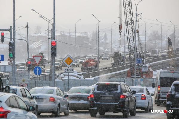 Из-за масштабного ремонта Уфа постоянно стоит в пробках