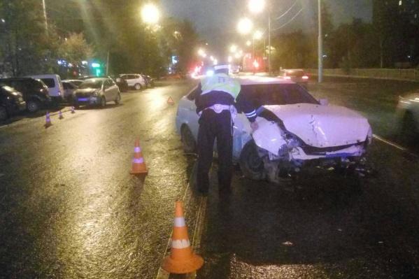 На Крауля столкнулись три машины
