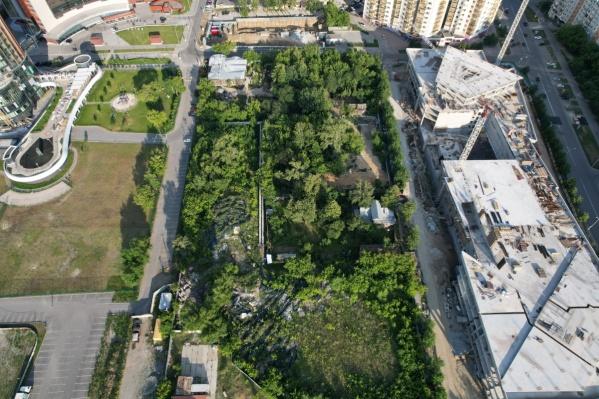 Так сейчас выглядит территория исторических садов в будущем квартале небоскребов