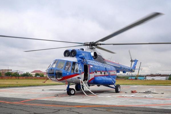 За пассажирами вылетел другой вертолет