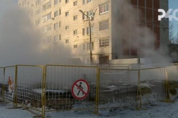 Место ЧП в Рыбинске огородили
