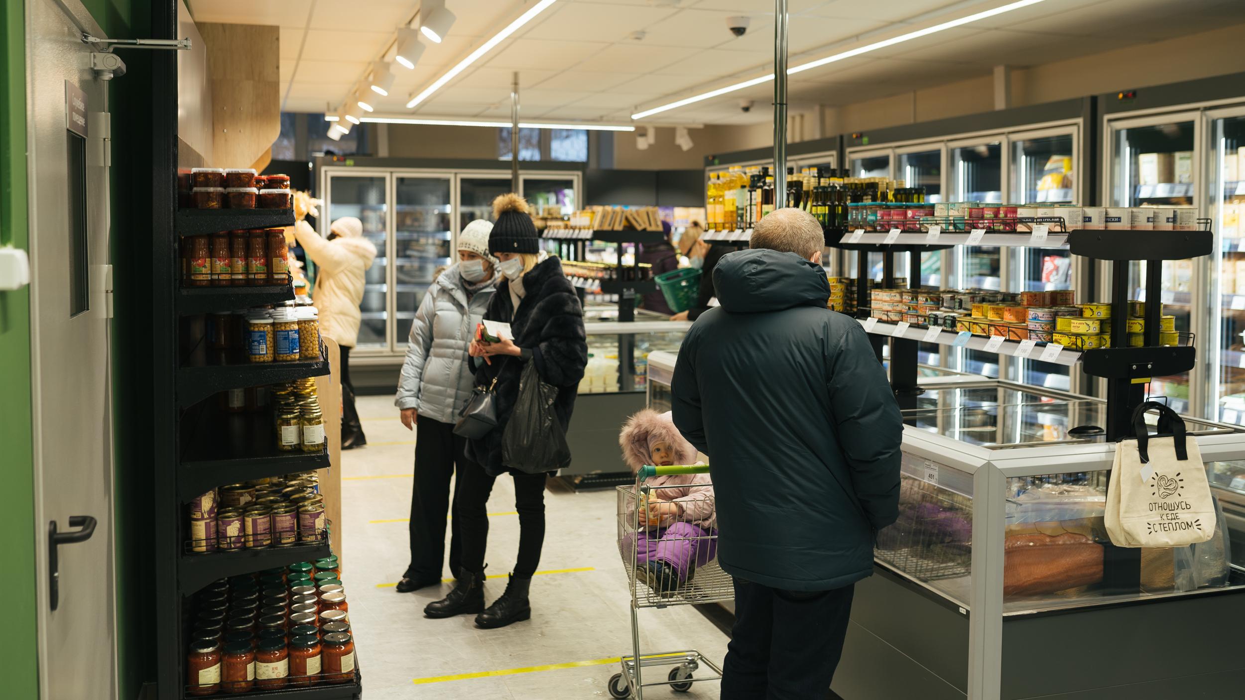 Организация пространства в магазине позволяет покупателям легко сориентироваться