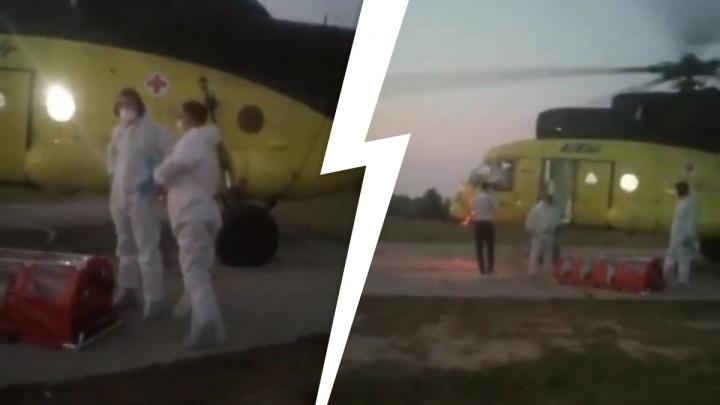 «Какой-то вирус завозят!». В ХМАО жители прогнали вертолет, прилетевший забирать пациента с COVID-19